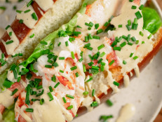Butter Poached Lobster Rolls with Bibb Lettuce and Spicy Mustard Mayonnaise