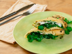 Breakfast Egg Wrap with Goat Cheese and Watercress