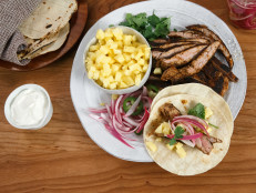 Pork Tenderloin Tacos with Pineapple and Quick-Pickled Red Onions