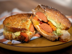 Chicago-Style Hot Dog Grilled Cheese