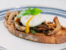Poached Eggs & Wild Mushrooms on Toast