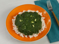 Spinach and Feta Cooked Like Saag Paneer