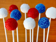 Red, White and Blue Oreo Cookie Pops