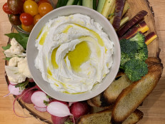 Whipped Ricotta with Crudite and Garlic Toasts