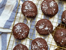 Dark Chocolate Brownie Cookies with Fleur de Sel