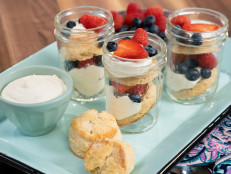 Mason Jar Berry Shortcakes with Whipped Greek Yogurt and Cream