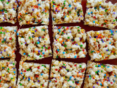Rainbow Confetti Marshmallow Popcorn Treats