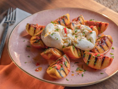 Burrata with Grilled Peaches