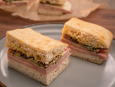 Pressed Italian Picnic Sandwich with Olive Relish