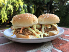 Slow-Cooker BBQ Pulled Pork Sliders with Slaw