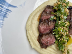 Weeknight Steak with Parsnip Puree