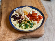 Loaded Hummus Bowl with Feta, Tomatoes and Cucumbers