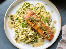 Salmon Piccata with Herbed Pasta