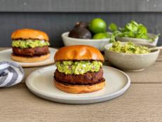 Spicy Pork Burgers with Guacamole
