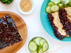 Hoisin-Glazed Sesame Chicken Meatloaf