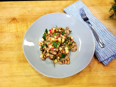 Garlicky Grilled Pork Tenderloin with Black-Eyed Pea Vinaigrette