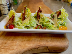 Bacon and Egg Caesar Wedge Salad