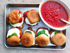 Chicken Parm Sliders with Garlic Bread Ciabatta Buns