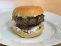 Lamb Burgers with Tzatziki and Grilled Onion