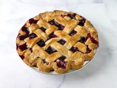 Cherry and Strawberry Lattice Pie