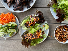 Grilled Short Rib Lettuce Cups with Spicy Peanuts