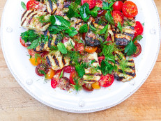 Charred Halloumi with Fresh Tomatoes and Herbs