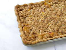 Peach Slab Pie with Almond Crumble
