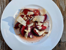 Plum Almond Salad with Pecorino