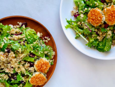 Quinoa Salad with Baked Goat Cheese Rounds