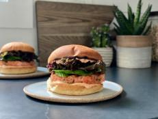Salmon Burgers with Sriracha-Sesame Mayo