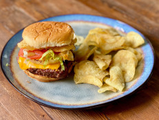 Hawaiian Sliders with Pineapple and Sweet Onion Potato Chips