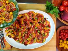 Spicy Peach and Tomato Carpaccio