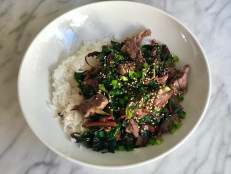 Teriyaki Steak and Rainbow Chard Stir-Fry