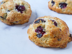 Blueberry Almond Drop Scones