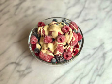 Fail-Proof Vanilla Creme Anglaise with Berries