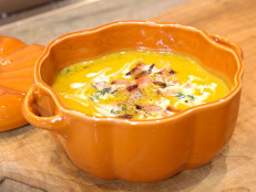 Butternut Squash Soup with Maple Sour Cream