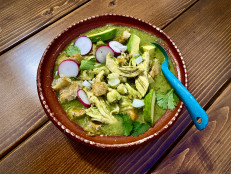 Pozole Verde con Pollo (Green Chicken-and-Hominy Stew)
