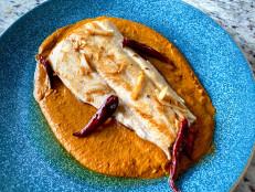 Pan-Fried Fish with Pumpkin Pipián