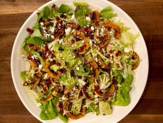 Maple-Roasted Delicata Squash Salad with Spiced Pepitas