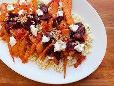 Roasted Carrot and Beet Salad with Couscous and Orange
