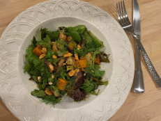 Air Fryer Butternut Squash, Fennel and Shallot Salad