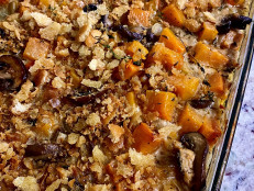 Winter Squash Gratin with Mushrooms