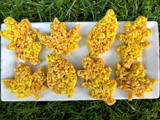 Fall-Leaf Marshmallow Crispy Treats