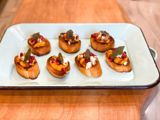 Pumpkin Crostini with Goat Cheese and Balsamic Glaze