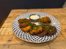 Sweet Potato and Parsnip Latkes with Chunky 5-Spice Applesauce