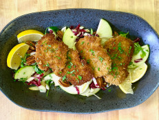 Pork Schnitzel Medallions with Apple Endive Salad