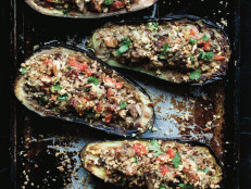 Roasted Eggplant with Pecan Breadcrumbs