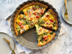 Loaded Veggie Quiche with Quinoa Crust