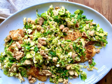 Baked Fish with Shaved Brussels Sprout Salad