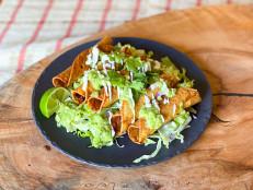 Short Rib Taquitos with Avocado Salsa